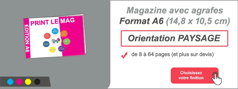 Magazine brochure agrafes A6 paysage