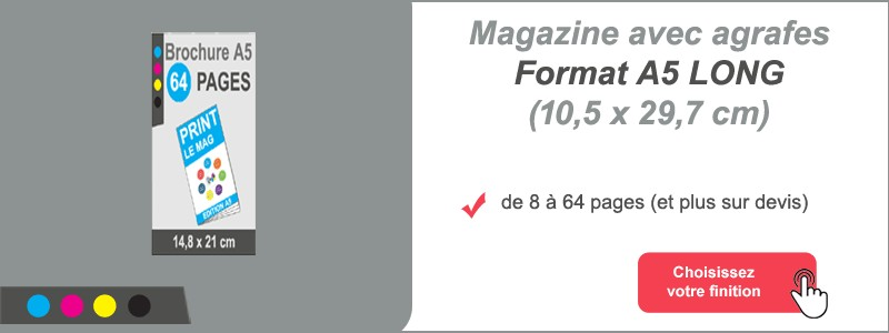 Magazine brochure agrafes A5 Long